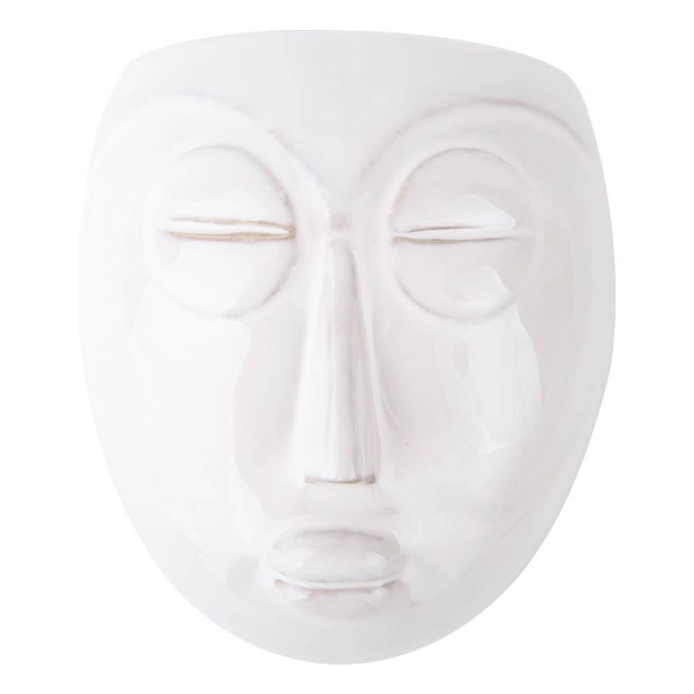 PT LIVING Biely nástenný kvetináč PT LIVING Mask, 16,5x17,5cm