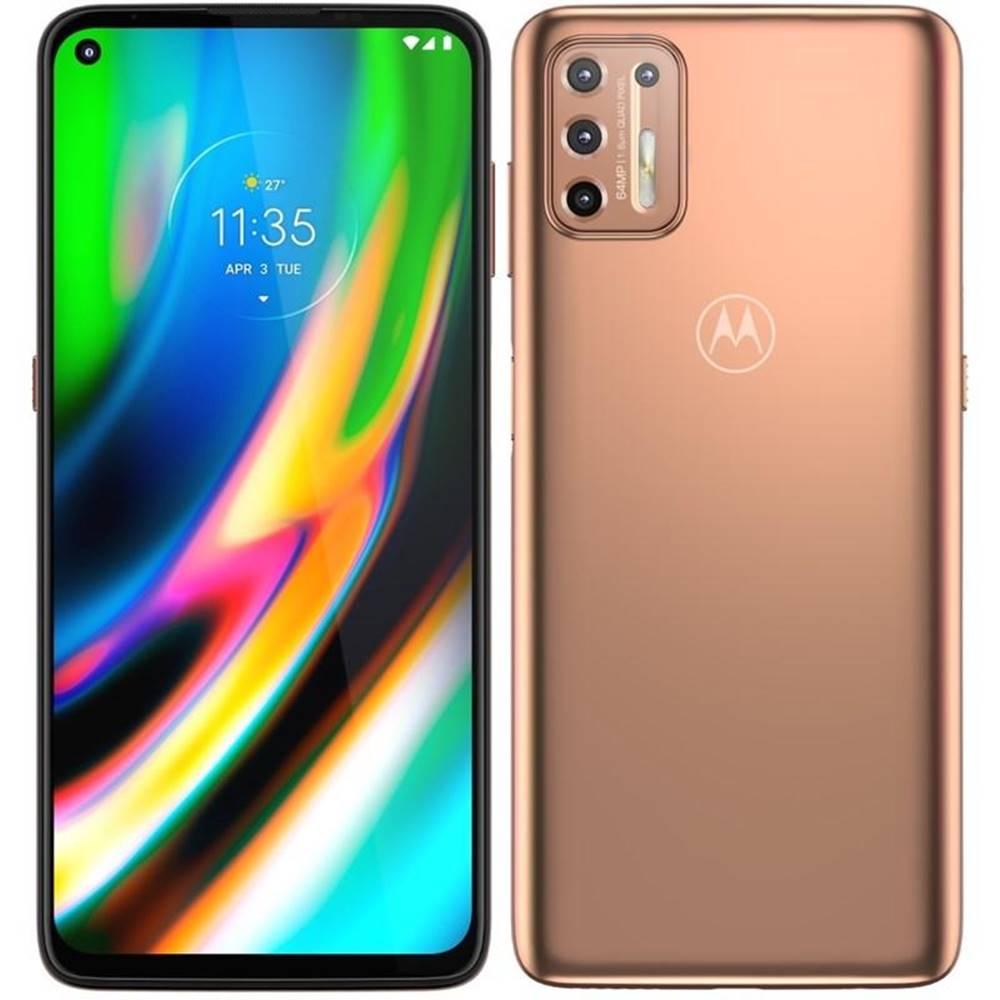 Motorola Mobilný telefón Motorola Moto G9 Plus zlatý