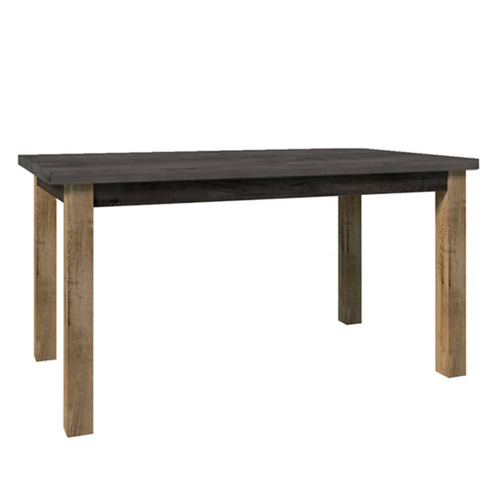 Tempo Kondela Jedálenský stôl rozkladací dub lefkas tmavý/smooth sivý MONTANA STW