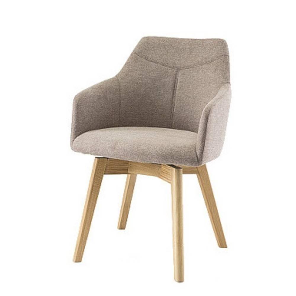 Sconto Jedálenská stolička JACKSON cappuccino/dub