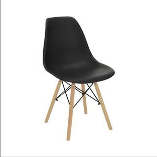 Stolička čierna/buk CINKLA 3 NEW