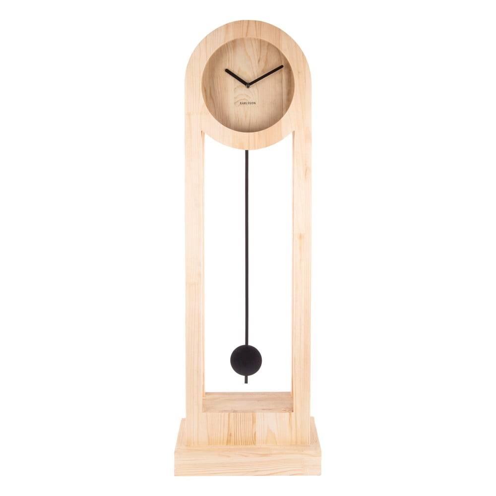 Karlsson Stojacie drevné hodiny Karlsson Lena, výška 100 cm