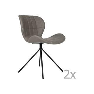 Sada 2 sivých stoličiek Zuiver OMG LL
