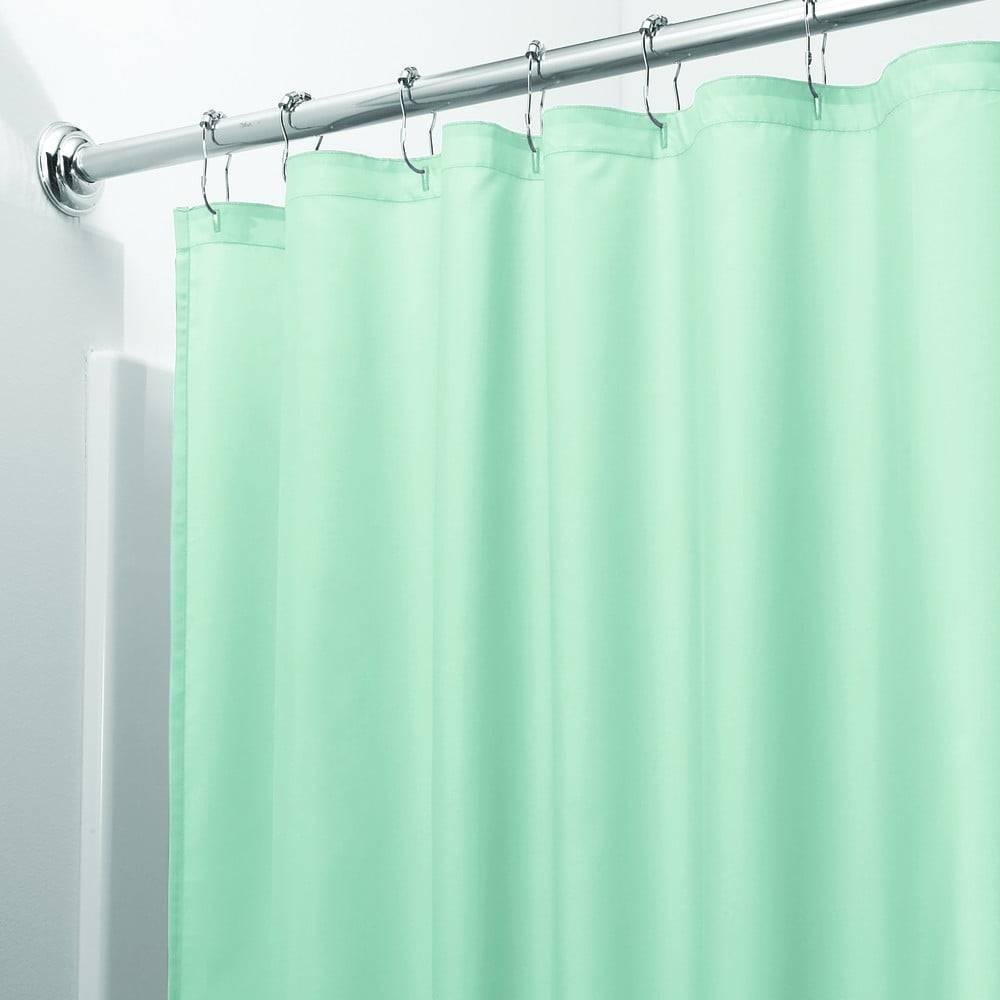 iDesign Zelený sprchový záves iDesign, 200 x 180 cm