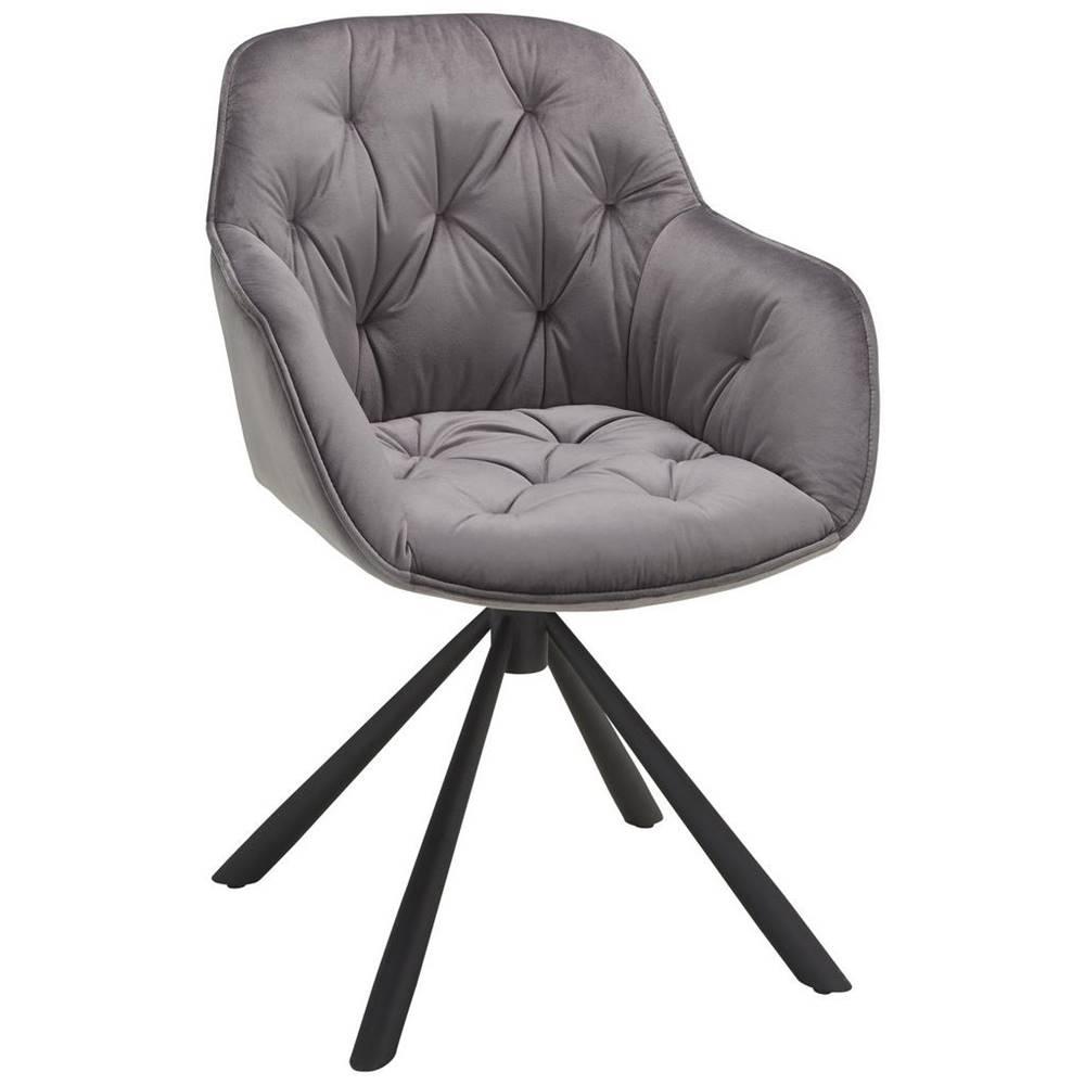 Möbelix stolička Eileen sivá