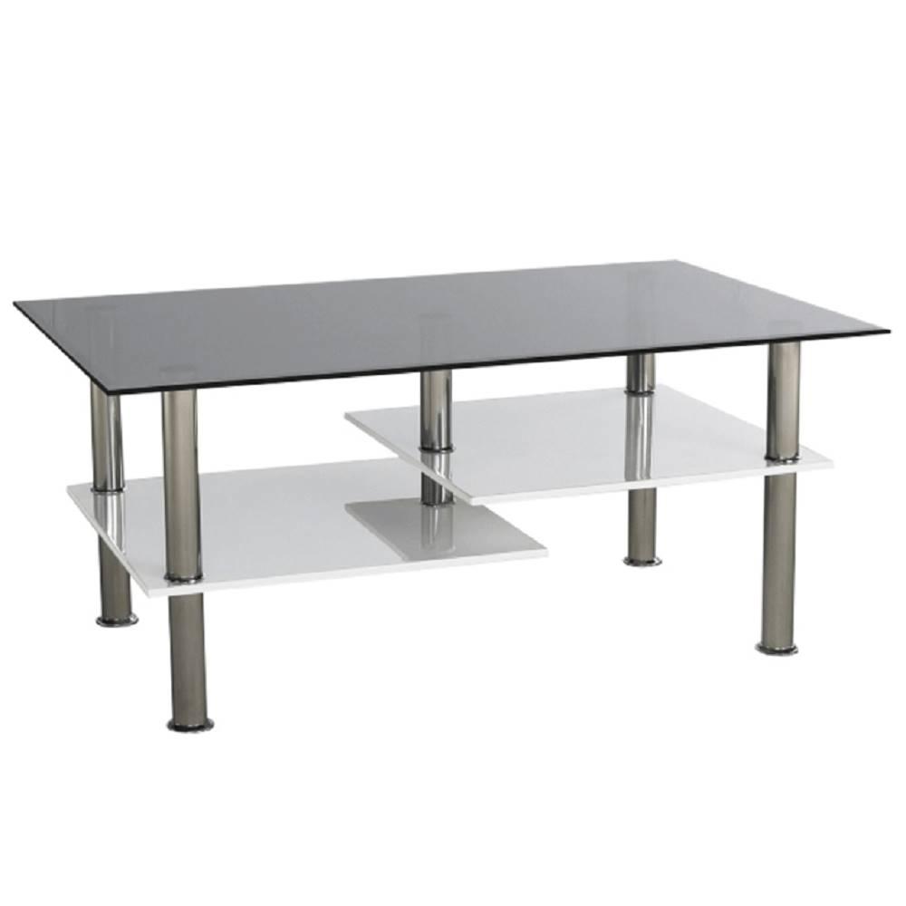 Tempo Kondela Konferenčný stolík biela extra vysoký lesk HG/ sklo SVEN