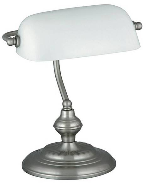 Biela stolová lampa Rabalux