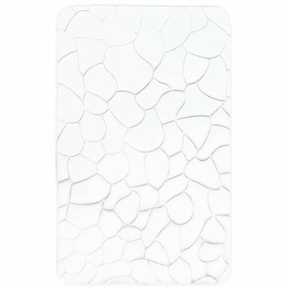 Domarex VOPI Kúpeľňová predložka s pamäťovou penou Kamene biela, 50 x 80 cm