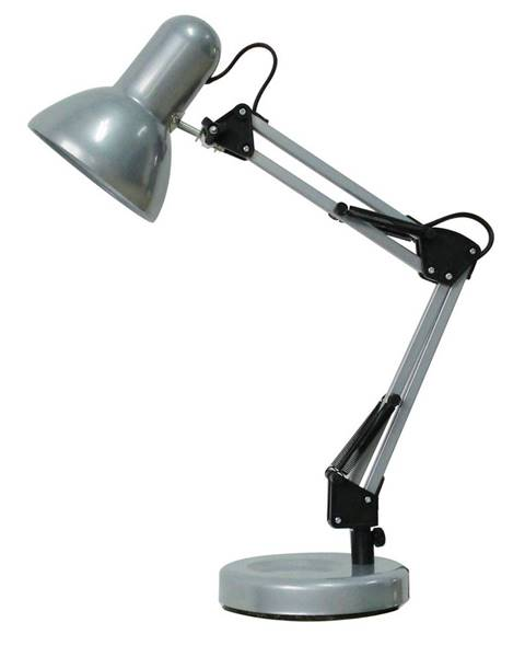 Strieborná stolová lampa Rabalux