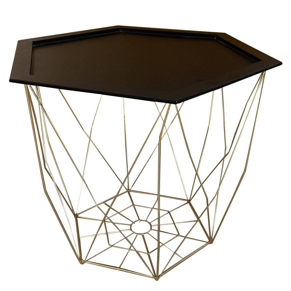 Tempo Kondela Príručný stolík čierna/zlatá BELOR