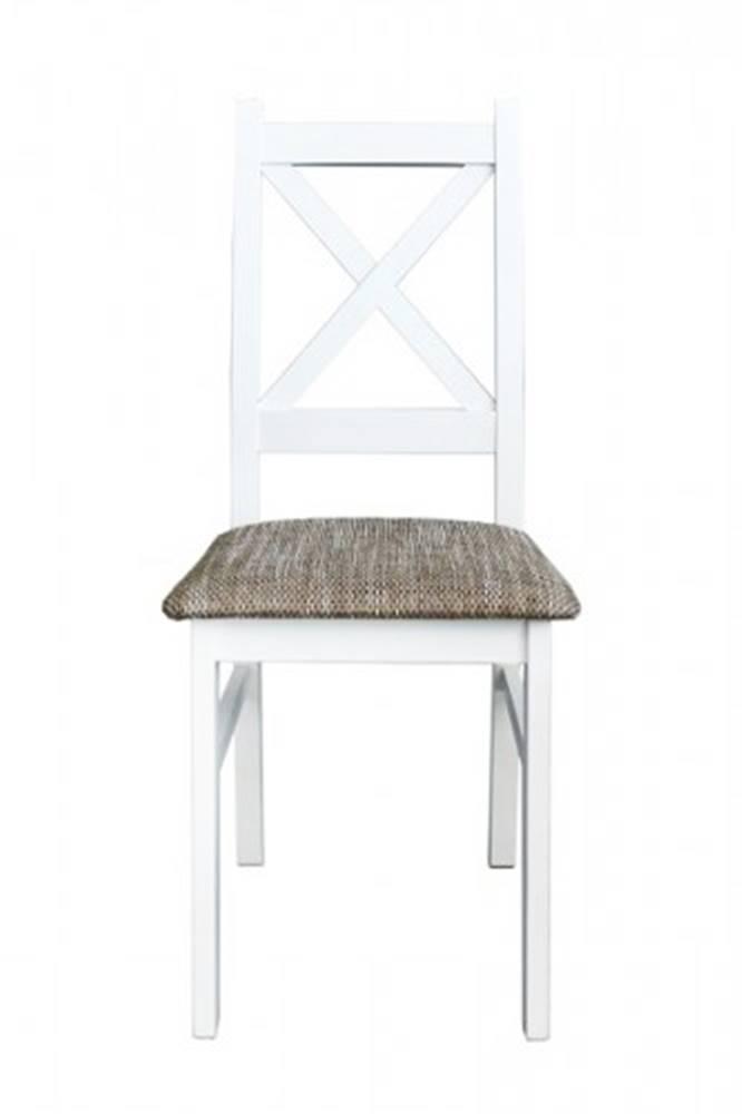 OKAY nábytok Jedálenská stolička Krzyžak new biela, sivá