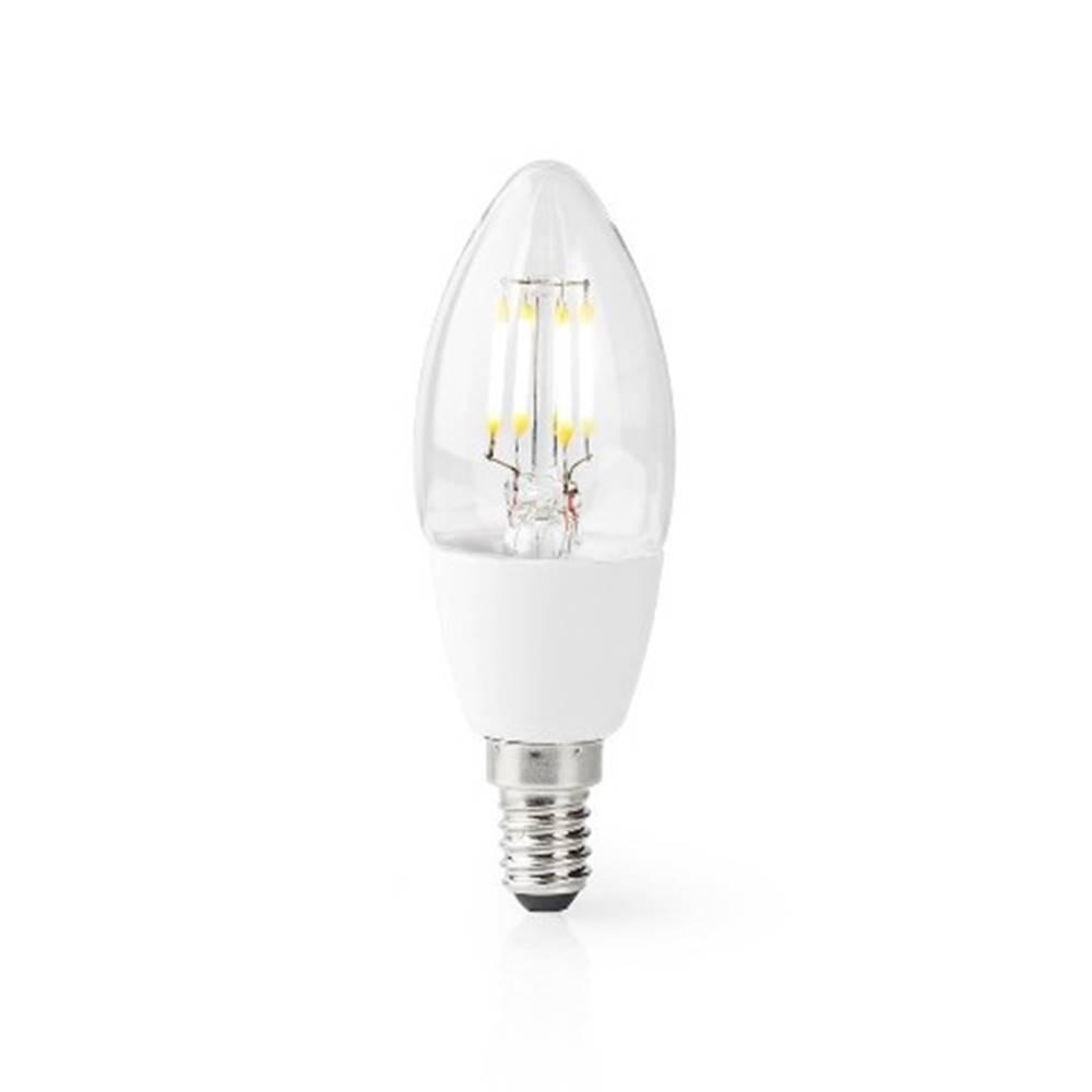 Nedis SMART LED žiarovka Nedis WIFILF10WTC37, E14, 5W, sviečka, biela