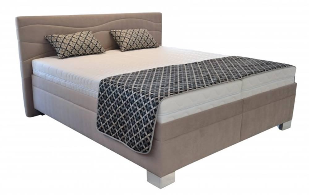 OKAY nábytok Čalúnená posteľ Windsor 200x200, vr. poloh. roštu, matraca a úp