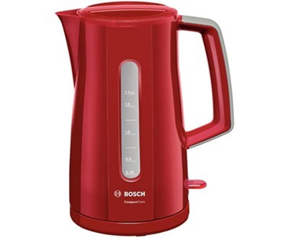 Bosch Rýchlovarná kanvica Bosch TWK3A014, červená, 1,7l