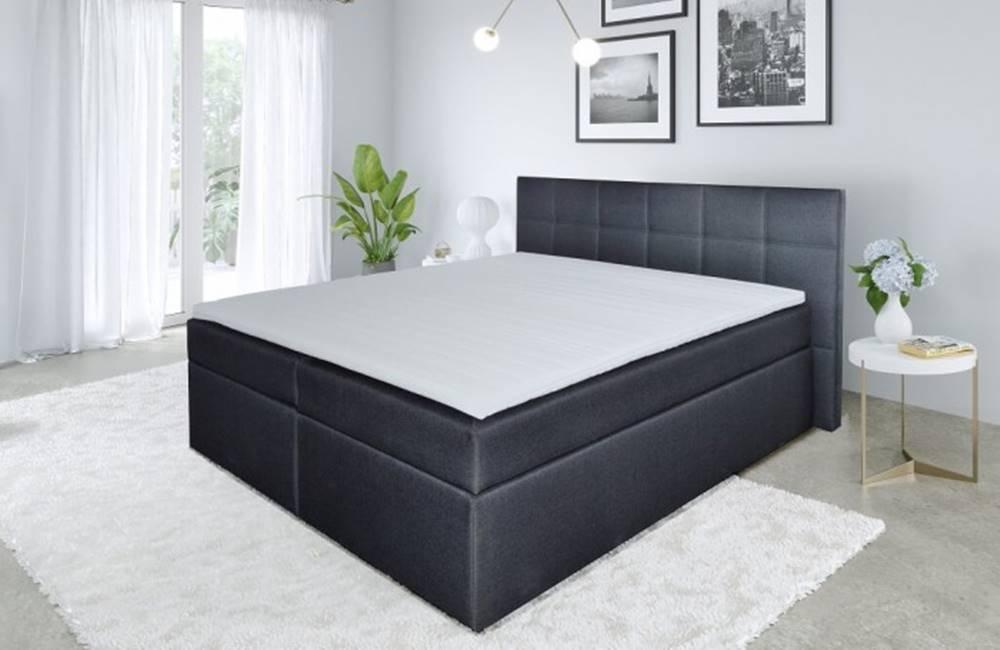 OKAY nábytok Posteľ Boxspring Bea 200x200, vrátane matracov a topperu