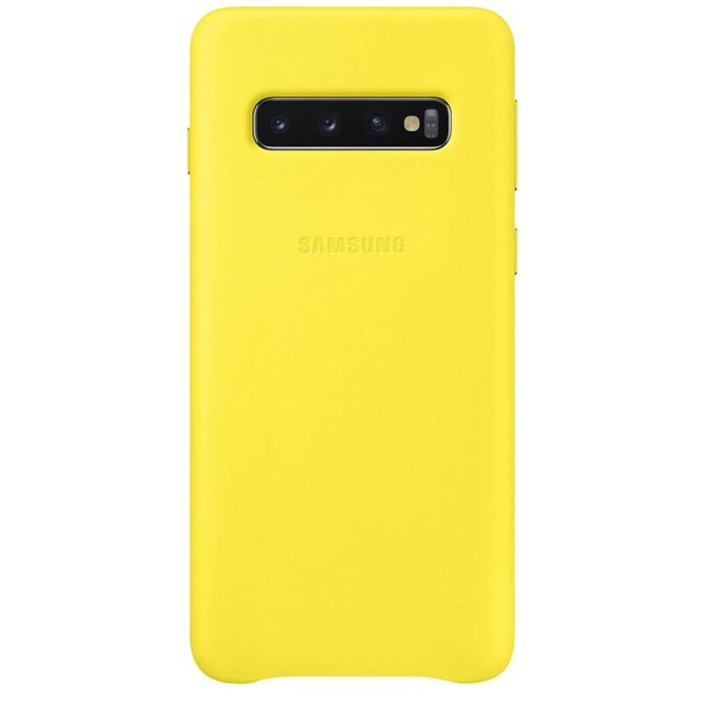 Samsung Kryt na mobil Samsung Leather Cover na Galaxy S10 žltý
