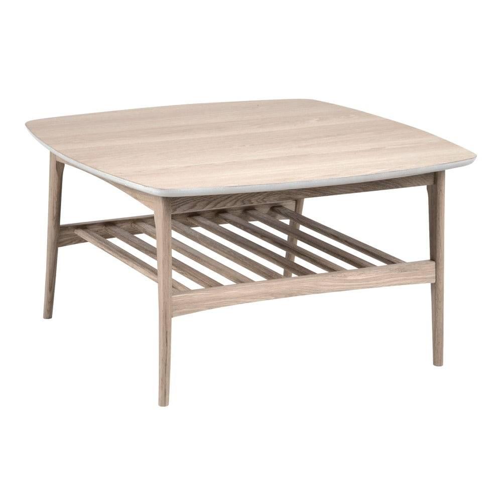 Actona Konferenčný stolík s podnožím z dubového dreva Actona Woodstock, 80 x 80 cm