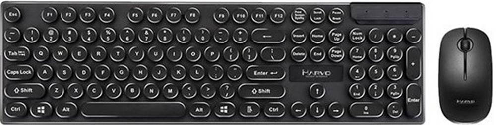 Marvo Set Marvo DCM002WE BK, klávesnica+bezdrôtová myš, US, čierna