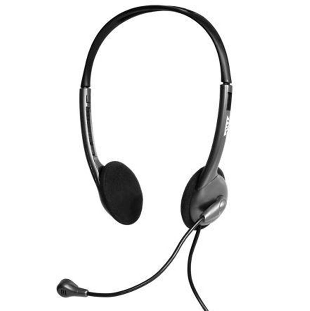 PORT CONNECT Headset  Port Connect Stereo 3,5 mm jack čierny