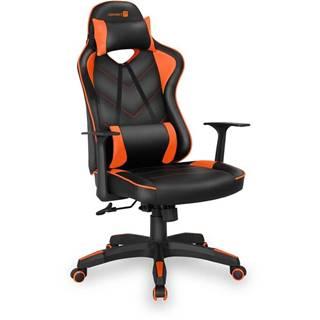 Herná stolička Connect IT LeMans Pro čierna/oranžová