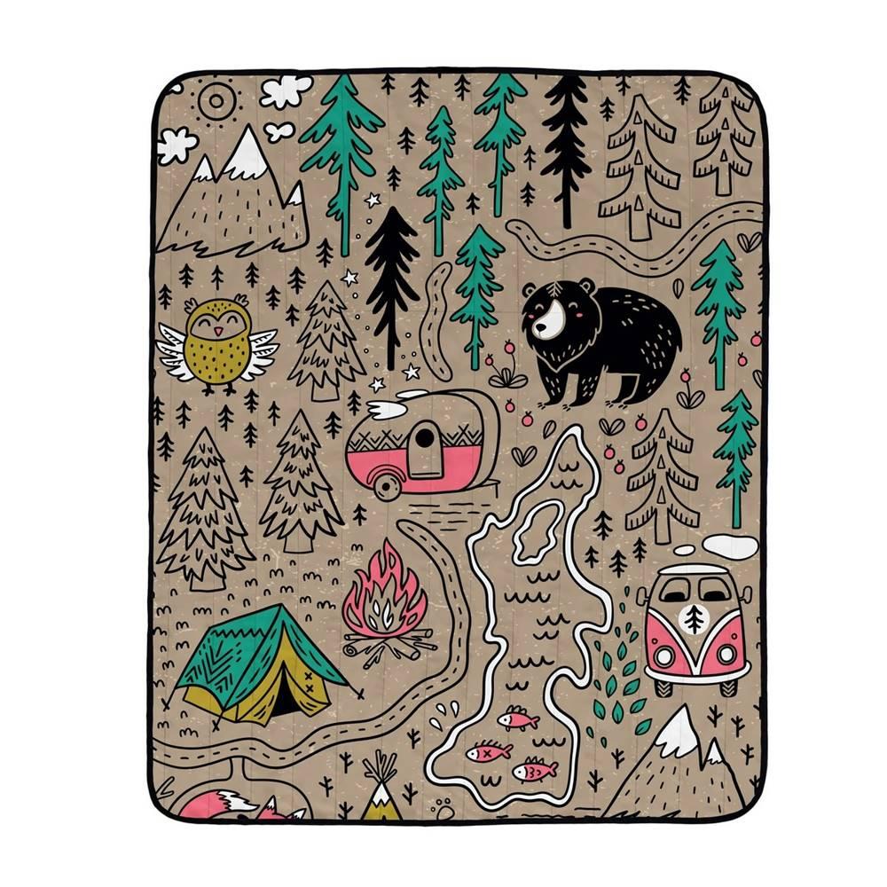 Butter Kings Butter Kings Skladacia kempingová deka Camping, 145 x 180 cm