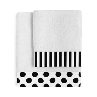 Súprava 2 bavlnených uterákov Blanc Dot