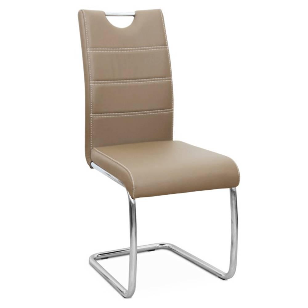 Tempo Kondela Jedálenská stolička capuccino/svetlé šitie ABIRA NEW