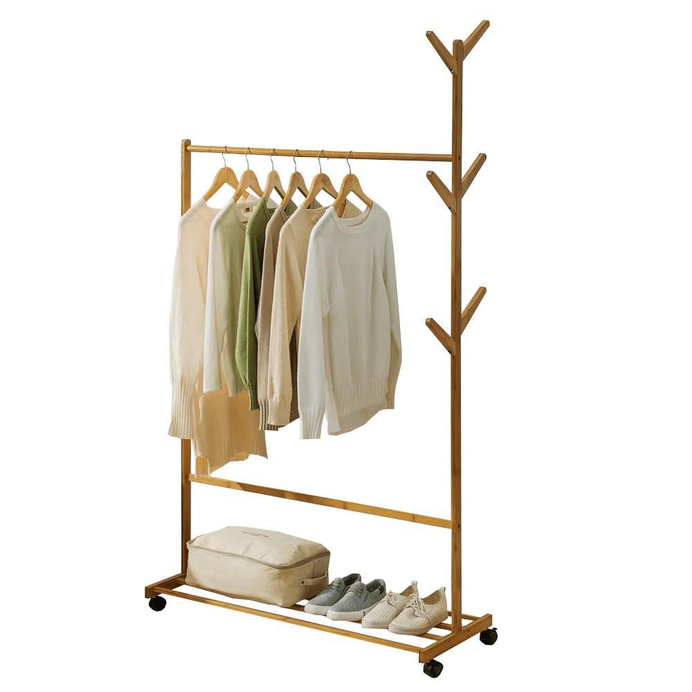 Tempo Kondela Pojazdný vešiak bambus šírka 100cm VIKIR TYP 3