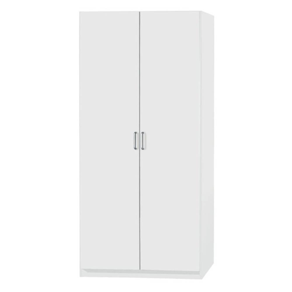 Sconto Šatníková skriňa PARKER biela, výška 197 cm, hĺbka 54 cm