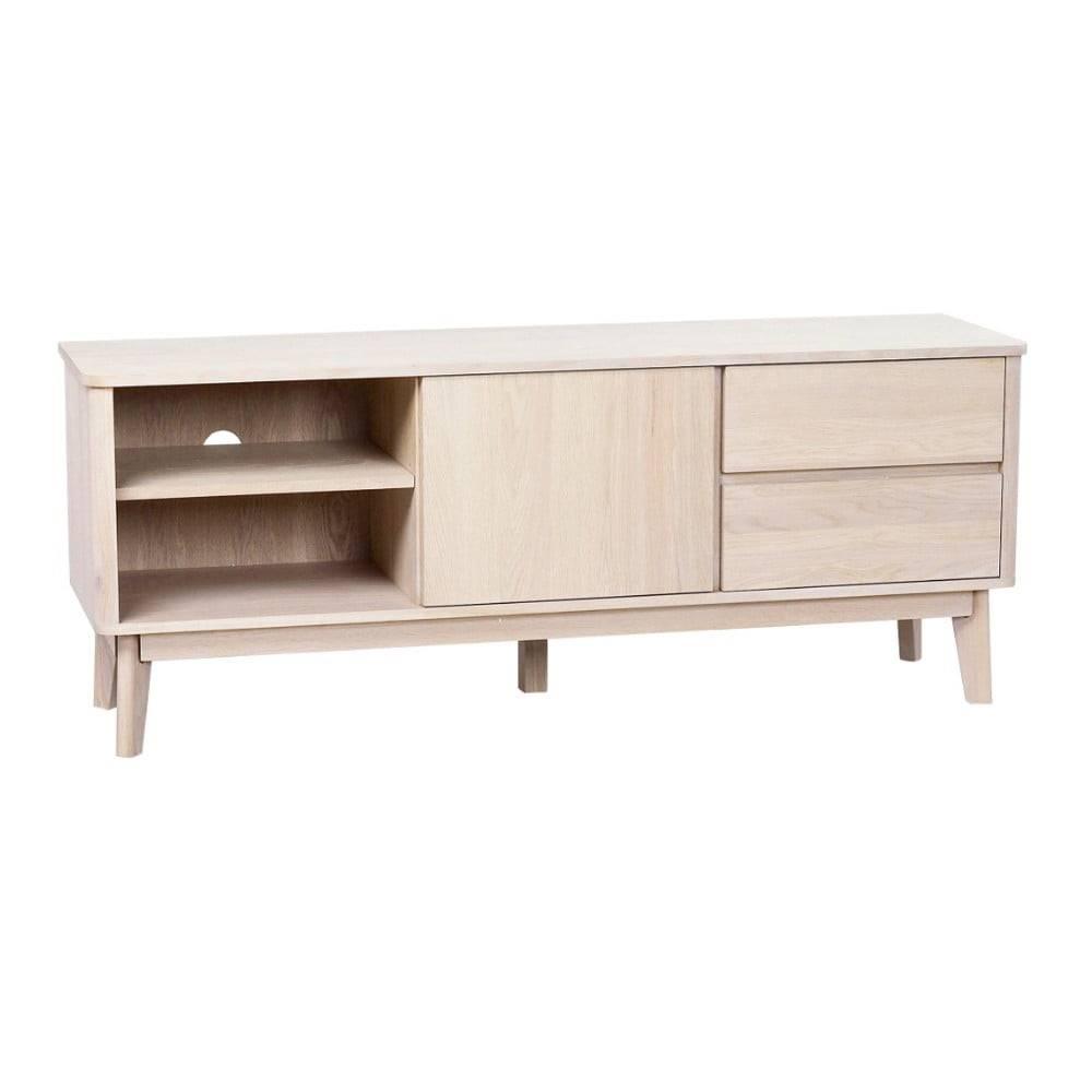 Rowico Televízny stolík z bieleného dubového dreva Rowico YuRAi