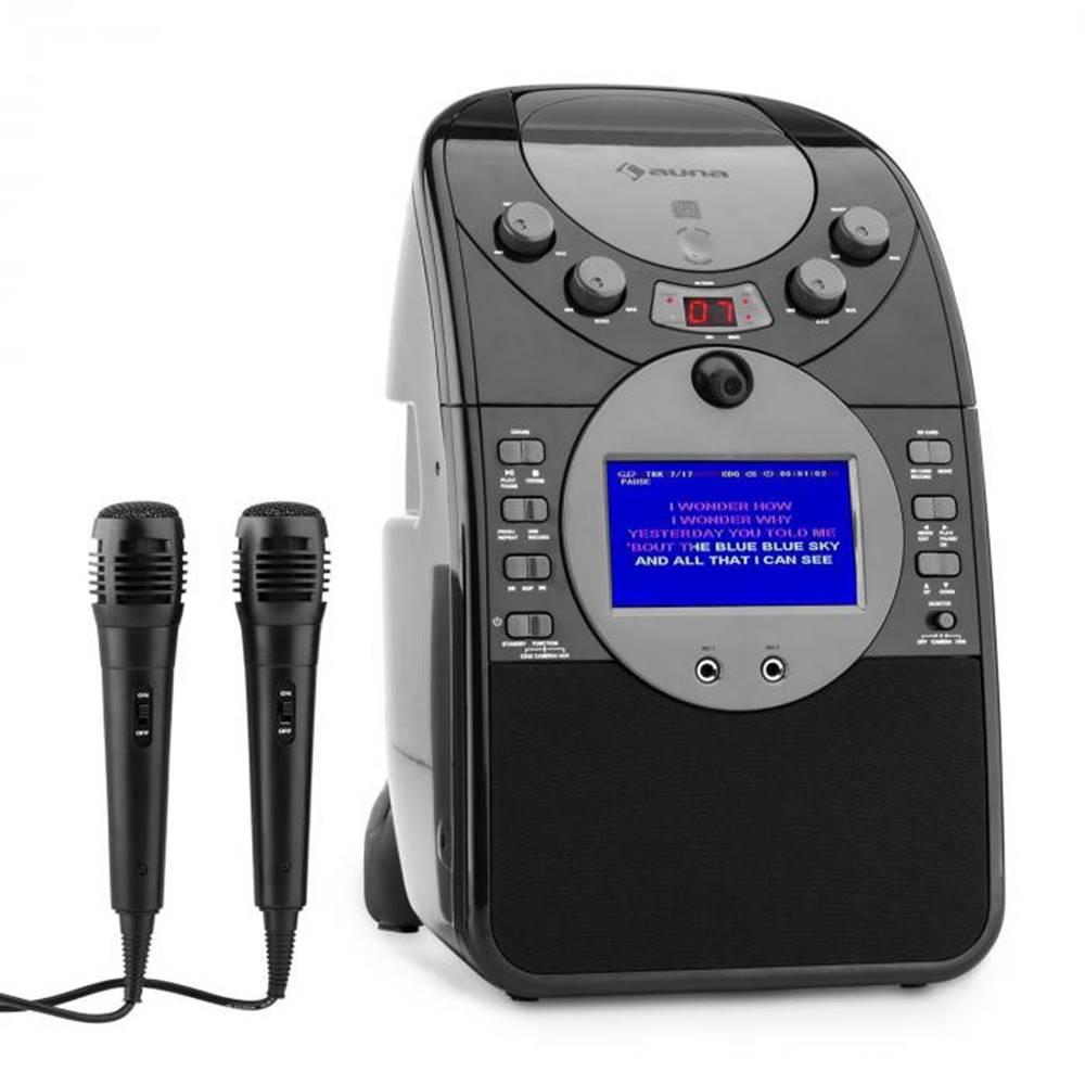 Auna Auna ScreenStar, čierny, karaoke systém, kamera, CD, USB, SD, MP3, vrátane 2 mikrofónov