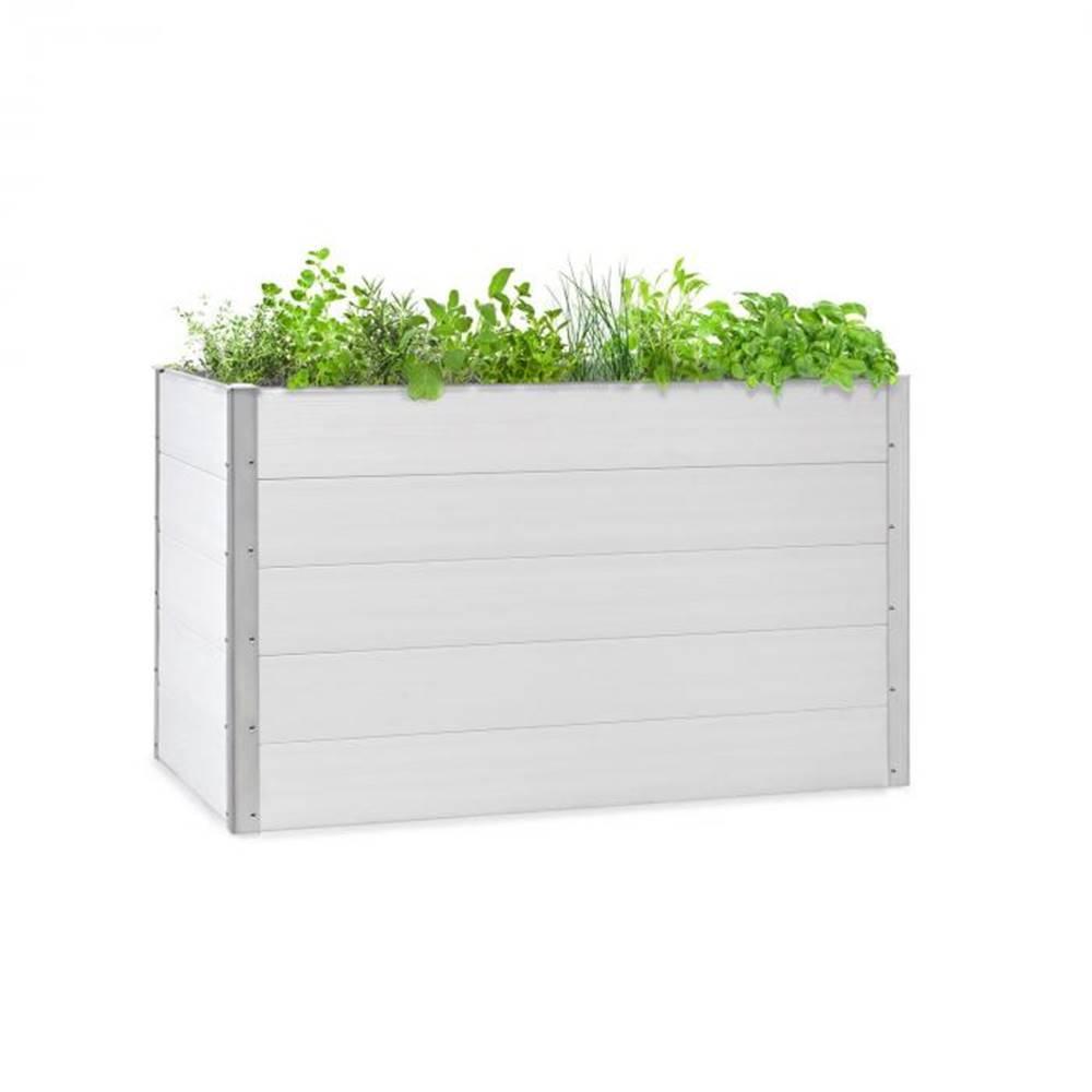Blumfeldt Blumfeldt Nova Grow, záhradný záhon, 150 x 91 x 100 cm, WPC, drevený vzhľad, biely