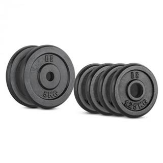 Capital Sports IPB 15 kg Set, sada závaží na činky, 4 x 1,25 kg + 2 x 5 kg, 30 mm