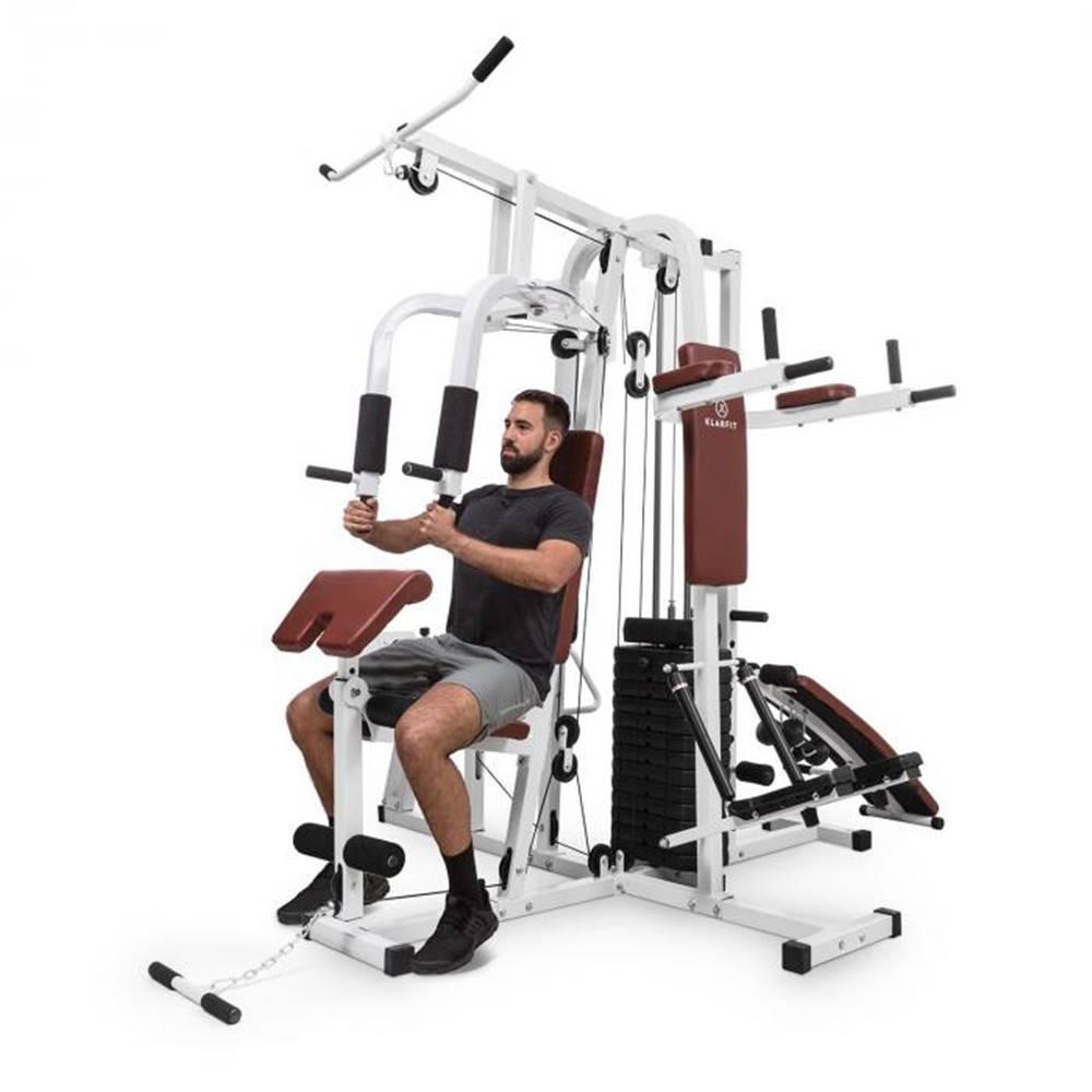 KLARFIT KLARFIT Ultimate Gym 9000, 7 staníc, do 150 kg, QR oceľ, biela