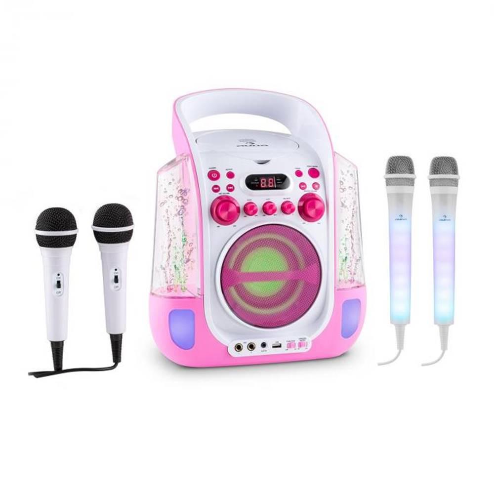Auna Auna Kara Liquida ružová farba + Dazzl mikrofónová sada, karaoke zariadenie, mikrofón, LED osvetlenie