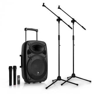 """Auna Streetstar 12 mobilné PA-zariadenie sada mikrofónových stojanov 12"""" PA-zariadenie 2 x mikrofón"""
