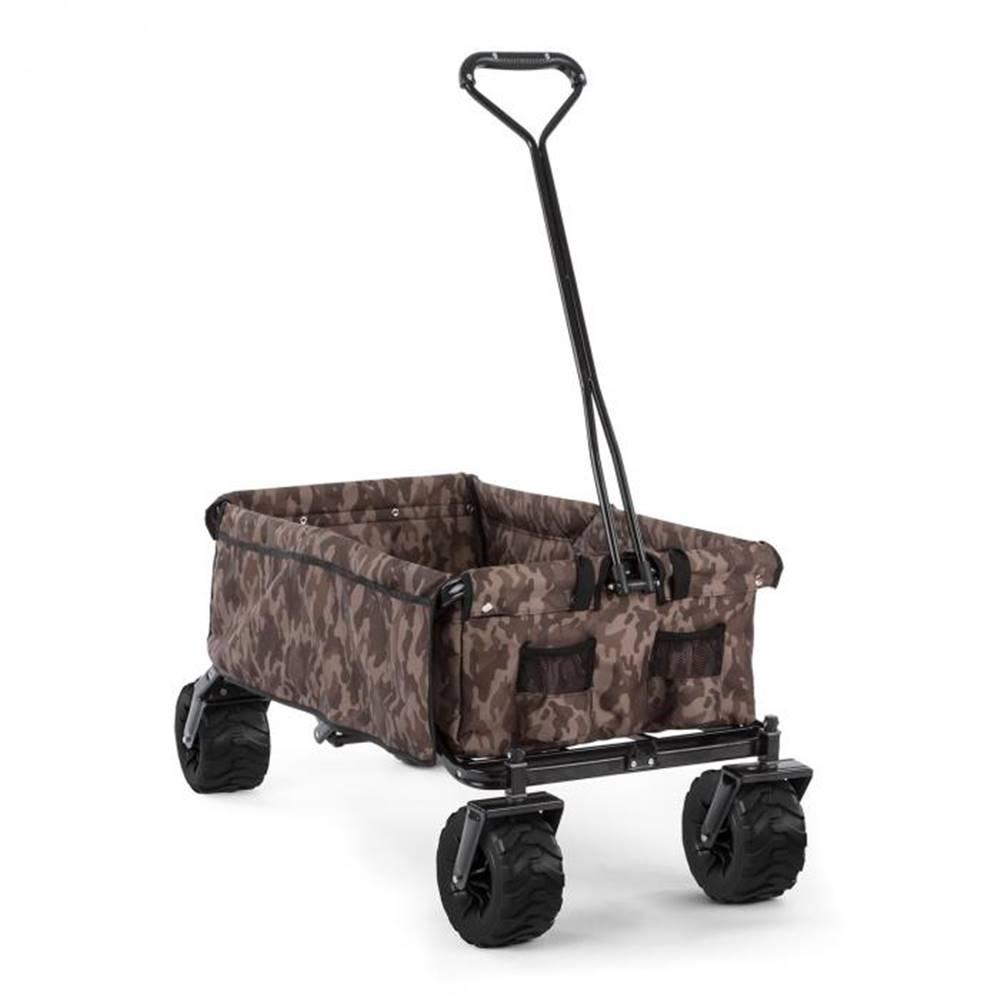 Waldbeck Waldbeck The Camou, ručný vozík, skladací, 70 kg, 90 l, kolesá Ø 10 cm, maskáčový