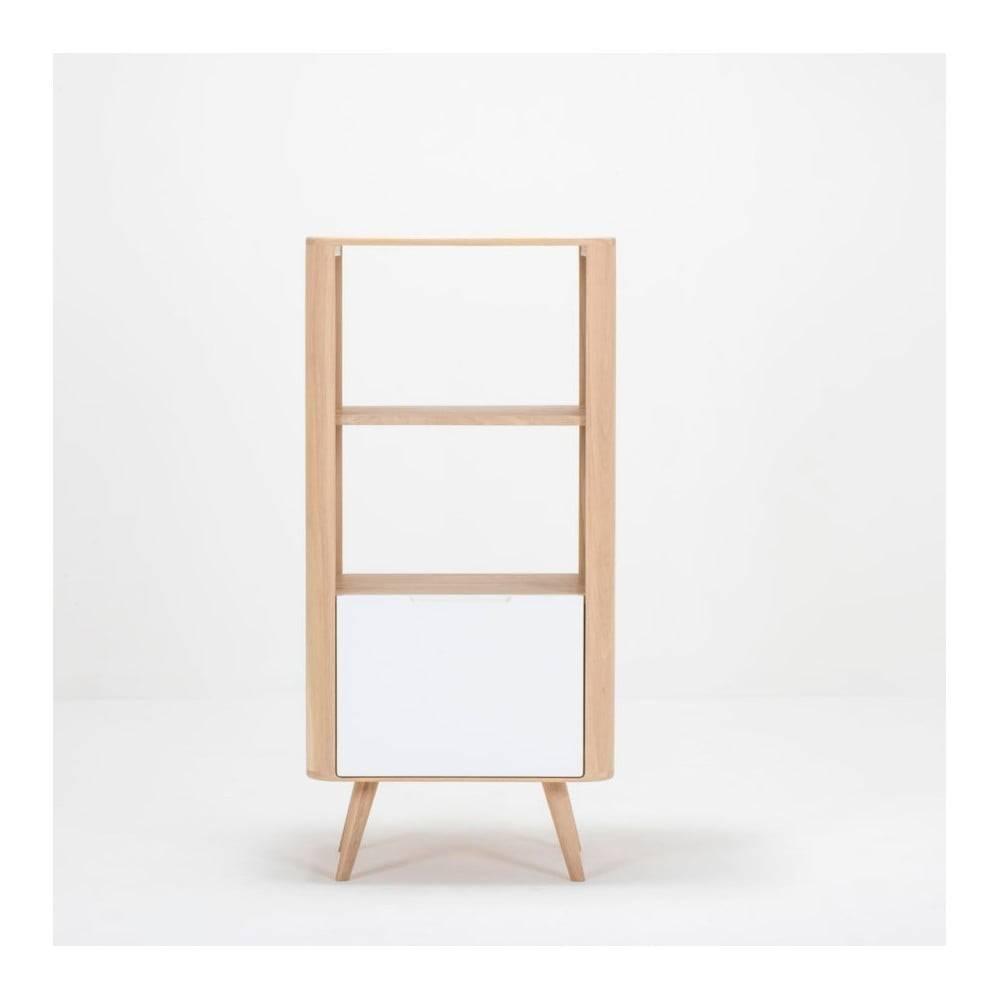 Gazzda Knižnica z dubového dreva Gazzda Ena, 60×42×125 cm
