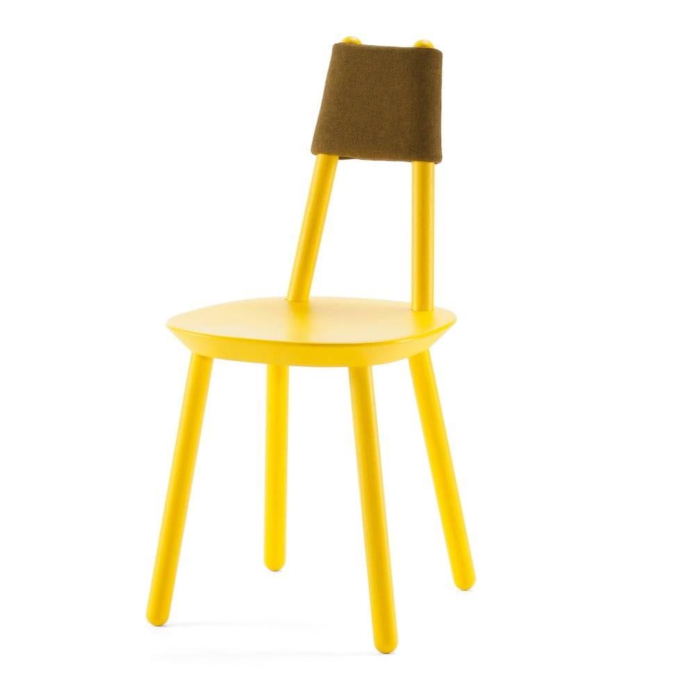 EMKO Žltá stolička z masívu EMKO Naïve