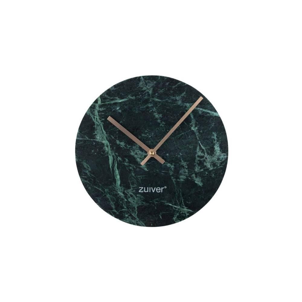 Zuiver Zelené nástenné mramorové hodiny Zuiver Marble Time