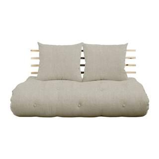 Rozkladacia pohovka s ľanovým poťahom Karup Design Shin Sano Natural/Linen