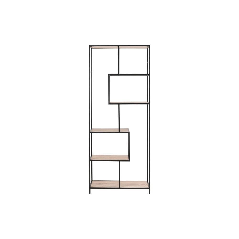 Actona Čierno-hnedá knižnica Actona Seaford, šírka 77cm