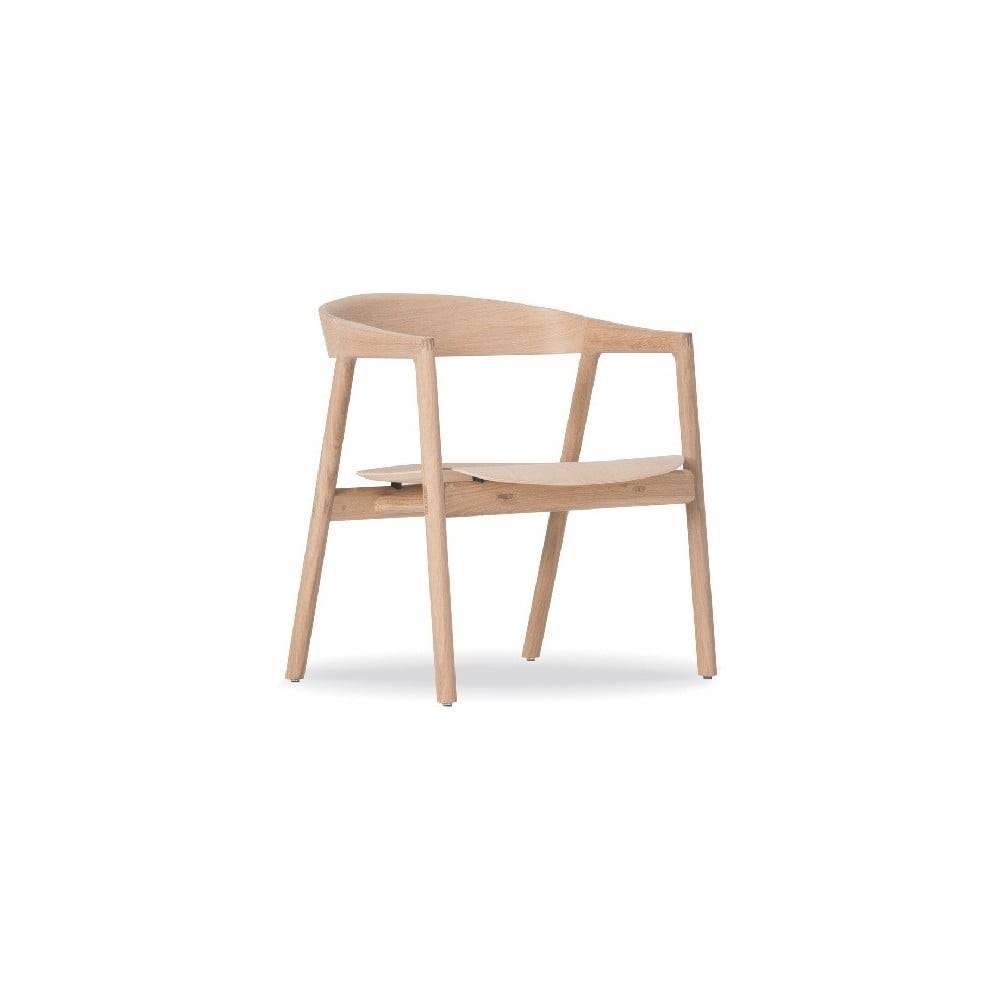 Gazzda Jedálenská stolička z dubového dreva Gazzda Muna