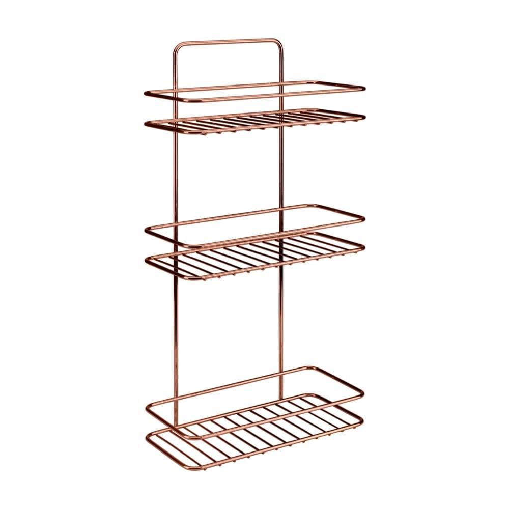 Metaltex Kúpeľňová polička s troma poschodiami Metaltex Copper