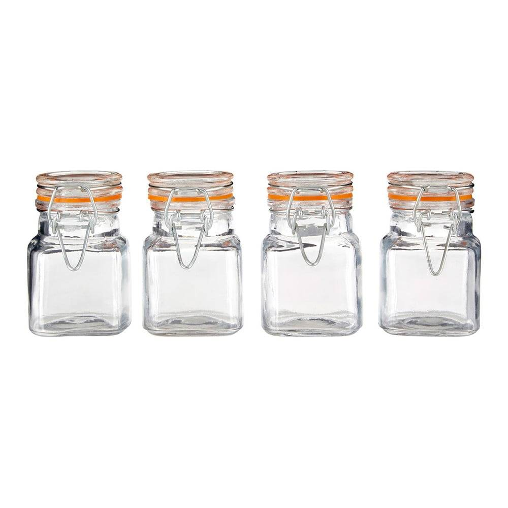 Premier Housewares Sada 4 sklenených koreničiek Premier Housewares, 90ml