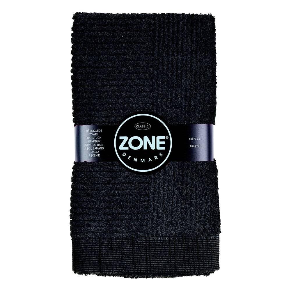 Zone Čierny uterák Zone Classic, 50×70cm