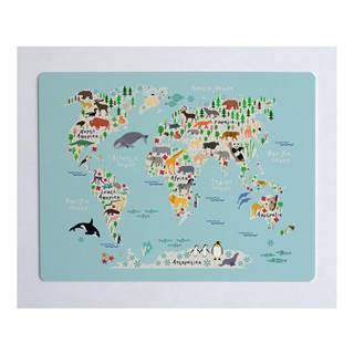 Podložka na stôl Little Nice Things World Map, 55 × 35 cm