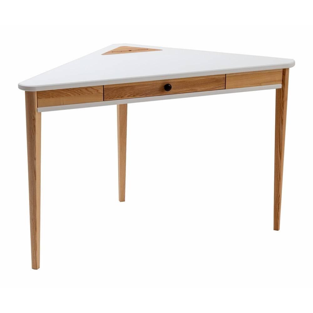 Biely rohový pracovný stôl ...