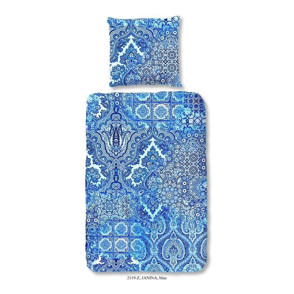 zouzou Obliečky na jednolôžko z bavlneného saténu Muller Textiels Heart of the Ocean, 140×200 cm