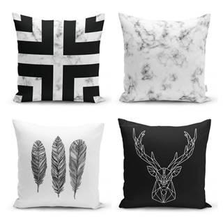 Sada 4 obliečok na vankúše Minimalist Cushion Covers Faria, 45 x 45 cm